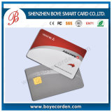 Beautiful Silver Hot Stamping Contact CPU Smart IC Card