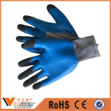 China Safety Latex Palm Coated Nylon Knitted Nitrile Gloves