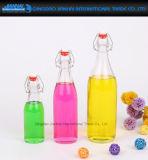 100% Airtight Custom Made Beverage Jar Glassware with Swing-Top Cap