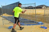 Temporary Pool Fence 1250mm X 2300mm Hot Dipped Galvanized 42 Microns