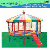 Round Colorful Trampoline Outdoor Playground Trampoline with Roof (M11-10402)