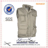 OEM Wholesale Multi Pocket Men Fishing Vest Outerwear Vests