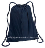 Eco-Friendly Navy Cotton Drawstring Backpack