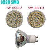 3W MR16 GU10 12V 220V 80LEDs LED Spotlight