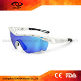 Factory Dropshipping Blue Coating Anti UV High Vision Men Sun Glasses Cycling Sport Sunglasses