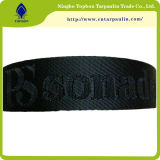 Good Quality Jacquard Logo Black Nylon Webbing for Handbag