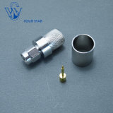 Male Plug Crimp RF Coaxial SMA Connector for LMR400 Cable