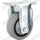 Medium Duty Single Bearing Tpp Fixed Caster (Gray) (G3117)