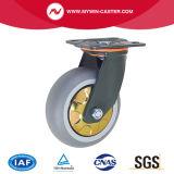 Plate Swivel TPR Wheel Without Brake Heavy Duty Caster