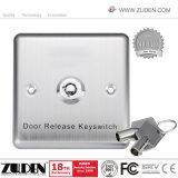 Stainless Steel Panel Door Exit Release Button with Key