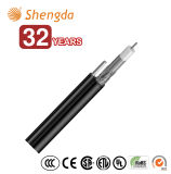 Quad Shield RG6 Coaxial Cable with Messenger for CATV/Matv/CCTV Equipments