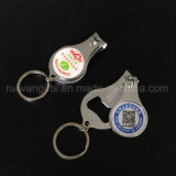 Promotional Gifts Custom Keychain Nail Clipper with Bottle Opener, Custom Finger Nail Clippers