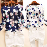 Graceladies Chiffon Print Long Sleeve Chiffon Shirt Women