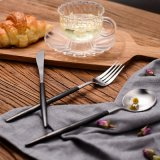 Matte Polish Stainless Steel Portable Edible Cutlery Set for Restaurants