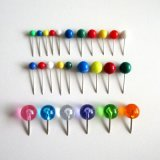 5 Sizes Multicolor Round Ball Head Thumb Tack Marking Push Map Pins