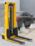 High Effiency 1.5 Ton Hand Forklift Stacker Self Loading Pallet Stacker