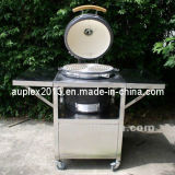 Charcoal BBQ Grill Round Oven, Ceramic Cooking Body Kamado Cooking Oven (AU-21S2)