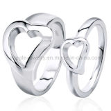 925 Sterling Silver Heart Shape Fashion Finger Ring Jewelry (GR010056)
