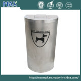 Half Moon Stainless Steel Pet Waste Bin Station