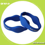 Wrs07 Dual Frequency Silicon Wristband Contain 125kHz, 13.56MHz and UHF Chips (GYRFID)