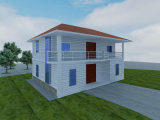 Two-Storey Steel Structure Prefab House (KXD-pH115)