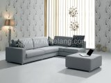 Home Living Room Corner Fabric Leather Sofa (6025#)