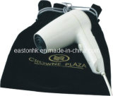 Travel White Plastic Hair Dryer with Storage Bag