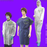 Disposable PE/PP+PE/CPE/SMS/Sterile/PP/Nonwoven Medical/ Surgical Gown/Isolation Gown