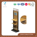 Floor Standing Supermarket Wooden Cloth Display Stand
