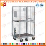 Stackable Galvanized Logistic Storage Wire Roll Cage Container Manufacturer (Zhra59)