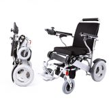 Silver Lightweight Portable Folding Electric Wheelchair for Disabled