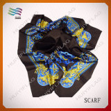 2017 100% Polyester New Design Print Square Scarf