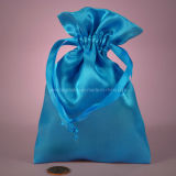 Light Blue Color Silk Bag for Cosmetic