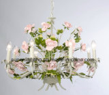 UL Approval Decorative Flower with Greed Leaf Chandelier