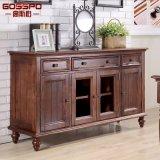 Guangdong Carved Oak Wood Storage Cabinet (GSP20-015)