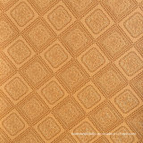 Square Flower PVC Leather for Handbag, Upholstery Sofa Furniture