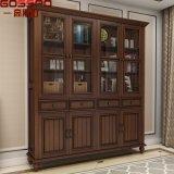 European Style Furniture Solid Teak Wood Bookcase (GSP18-001)