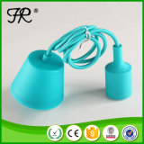 Blue DIY Industrial Silicone Pendant Light for Outdoor