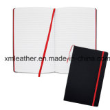 Elastic Band Black Leather Journal Diary Notebook