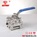 3PC Floating 1000wog Threaded Stainless Steel Ball Valve (Q11F)
