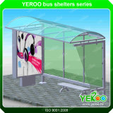 Outdoor Bus Stop Advertising Bus Shelters with Lightbox