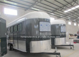 Hot Sale Three Angel Horse Trailer/Horse Float with Sofa Beds