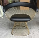 Metal Leisure Restaurant Dining Cushion Outdoor Steel Wire Chair