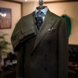 Green Double Breasted Male Suit Shopping Online