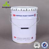 5 Gallon Tin Bucket with Flower Lid 20 Liter Paint Metal Bucket