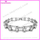 Silver Bicycle Chain Bracelet Box Clasp Custom Stainless Steel Bracelet