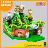 Safari Fun City Inflatable Animal Amusement Park with Slide (AQ01761)