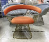 Metal Leisure Restaurant Cushion Dining Outdoor Steel Wire Chair