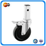 Medium Duty Square Stem Caster Rubber Wheel