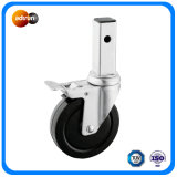Medium Duty Square Stem Rubber Wheel Casters